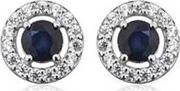 Number 39 , Ladies Sterling Silver Blue And Clear Cubic Zirconia Earrings S5006bscz