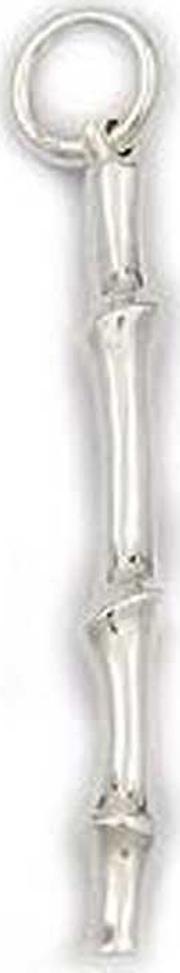 Number 39 , Silver Bamboo Pendant N 1076 Hp