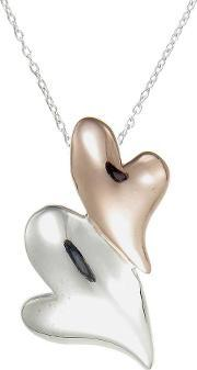 Number 39 , Two Tone Double Heart Pendant P1035rg