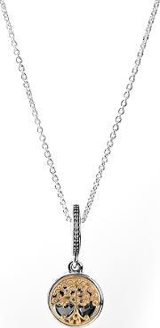 Pandora , Silver 14ct Family Roots Complete Necklace Cn093