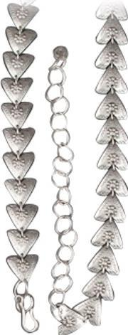 Pasha , Silver Plated Floral Triangles Belt O6016 Felicity