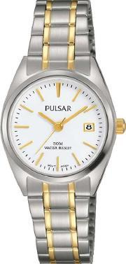Pulsar , Ladies Classic Two Tone Bracelet Watch Ph7441x1