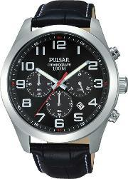 Pulsar , Mens Black Dial Watch Pt3667x1