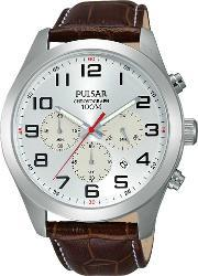 Pulsar , Mens Chronograph Strap Watch Pt3663x1