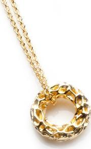 Rachel Galley , Gold Plated Mini Allegro Loop Pendant A100yg