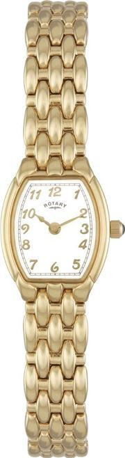 Rotary , Ladies Gold Tone Watch Lb00779-18