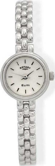 Rotary , Ladies Silver Elite Watch Lb20206-06
