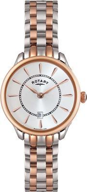 Rotary , Ladies Two Tone Steel Watch Lb0291702