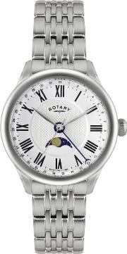 Rotary , Mens Beaumont Moonphase Watch Gb02849-01