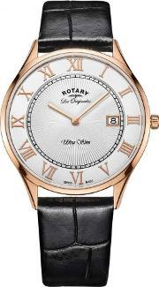 Rotary , Mens Les Originales Ultra Slim Strap Watch Gs9080401