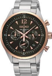 Seiko , Mens Stainless Steel Chronograph Watch Ssb068p1