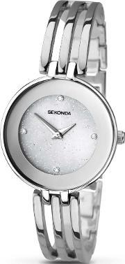 Sekonda , Ladies Stoneset Stainless Steel Bracelet Watch 2303