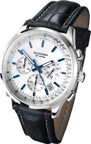 Sekonda , Mens Black Strap Chronograph Watch 3461