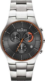 Skagen , Mens Aktiv Titanium Chronograph Watch Skw6076