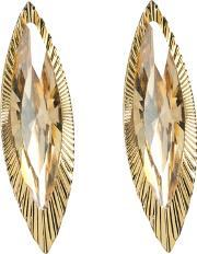 Sparkle , Large Clear Gold Crystal Marquise Stud Earrings E224 Gold