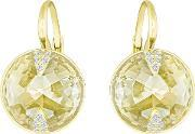 Swarovski , Globe Gold Plated Crystal Earrings 5276281