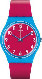 Swatch , Ladies Lampone Pink Strap Watch Gs145