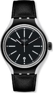 Swatch , Men's Go Cycle Black Watch Yes4003