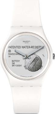 Swatch , Mens Yrettab White Strap Watch Gw170
