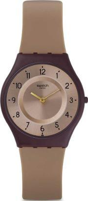 Swatch , Moccame Brown Strap Watch Sfc106