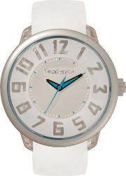 Tendence , Mens Fantasy White Strap Watch T0630004