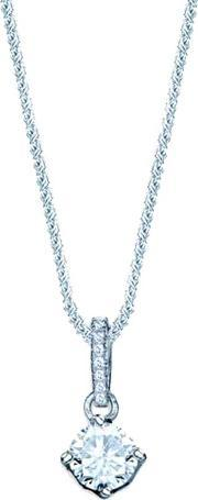 The Real Effect , Ladies Sterling Silver Cubic Zirconia 4 Claw Pendant Re28224