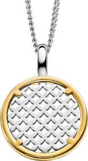 Ti Sento , Ladies Gold Plated Silver Crossed Pendant 6711sy