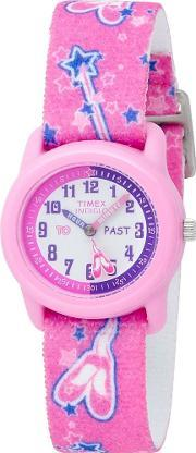Timex , Childrens Pink Ballerina Strap Watch T7b151