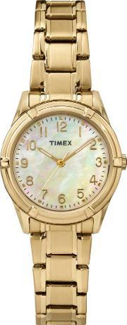 Timex , Ladies Easton Gold Watch Tw2p78300