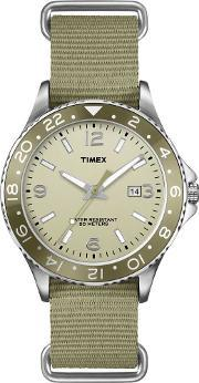 Timex , Originals Mens Green Sport Watch T2p035
