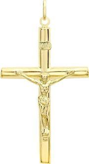 Tjh Collection , 9ct Gold Large Crucifix Pendant 1.64.0383