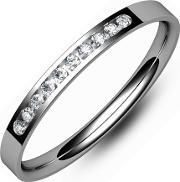 Tjh Collection , 9ct White Gold Channel Set 2mm Band Ring E1012ch-9w J