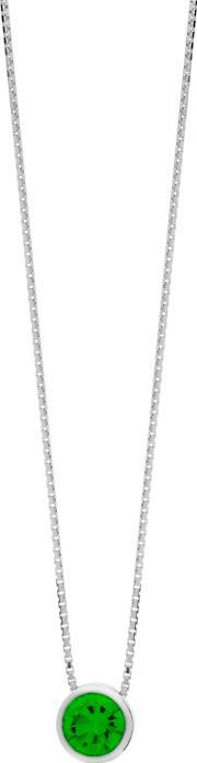 Tjh Collection , Silver May Green Cubic Zirconia Pendant Wp1282-cz-e