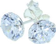 Topaz , Silver Cubic Zirconia Stud Earrings Ez-197