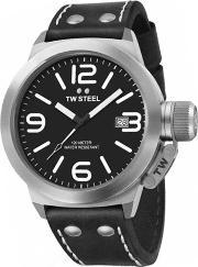 Tw Steel , Mens Canteen Black Leather Strap Watch Twcs1