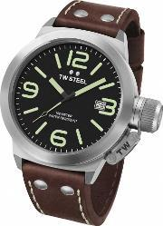 Tw Steel , Mens Canteen Brown Strap Watch Twcs22