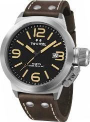 Tw Steel , Mens Canteen Brown Strap Watch Twcs32