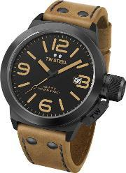 Tw Steel , Mens Canteen Brown Strap Watch Twcs41