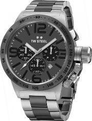 Tw Steel , Mens Canteen Chronograph Bracelet Watch Twcb203
