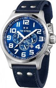 Tw Steel , Mens Pilot Chronograph Watch Tw0403