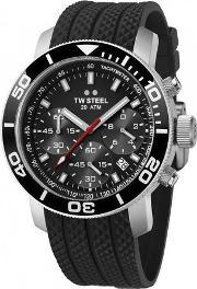 Tw Steel , Mens Rubber Strap Watch Tw0700