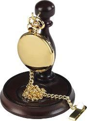Woodford Pocket Watches , Burleigh Mens Gold Plated Pocket Watch With Stand 1924