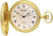 Woodford Pocket Watches , Woodford Gold Plated Round Pocket Watch 1028
