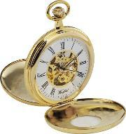 Woodford Pocket Watches , Woodford Gold Plated Skeletal Pocket Watch 1077