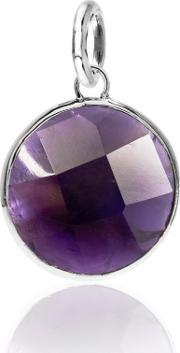 Chrysalis , Silver Amethyst Round Pendant Crpads-am