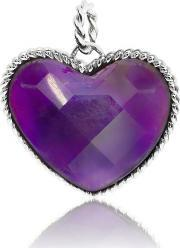 Chrysalis , Silver Faceted Amethyst Heart Pendant Crpaas-am