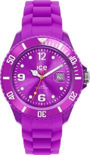 Icewatch , Ice-watch Purple Rubber Strap Purple Dial Watch Si.pe.s.s.12