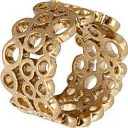 Sence , Champagne Gold Plated Bubbles Band Ring V099