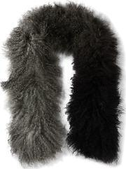 Karl Donoghue , Ombre Shearling Scarf Anthracite
