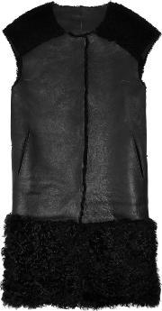 Karl Donoghue , Shearling And Leather Gilet